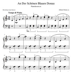 An Der Schönen Blauen Donau Bladmuziek PDF sheet