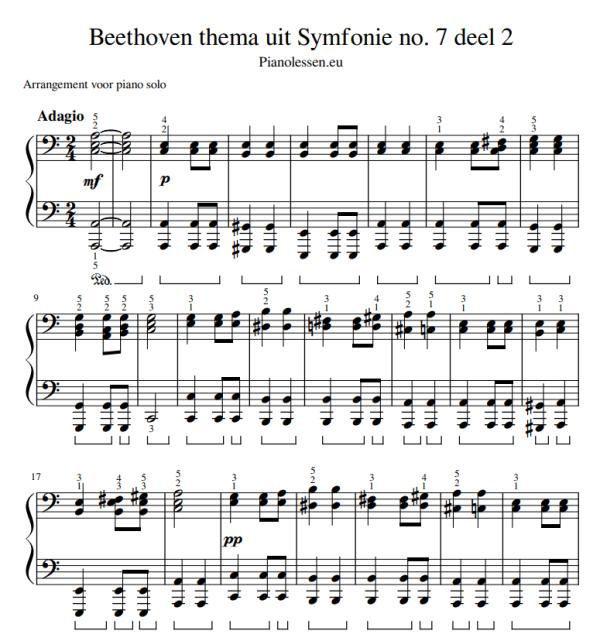 Beethoven thema symfonie 7 PDF Sheet