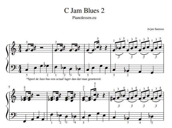 Blues C-JAM Piano pdf sheet