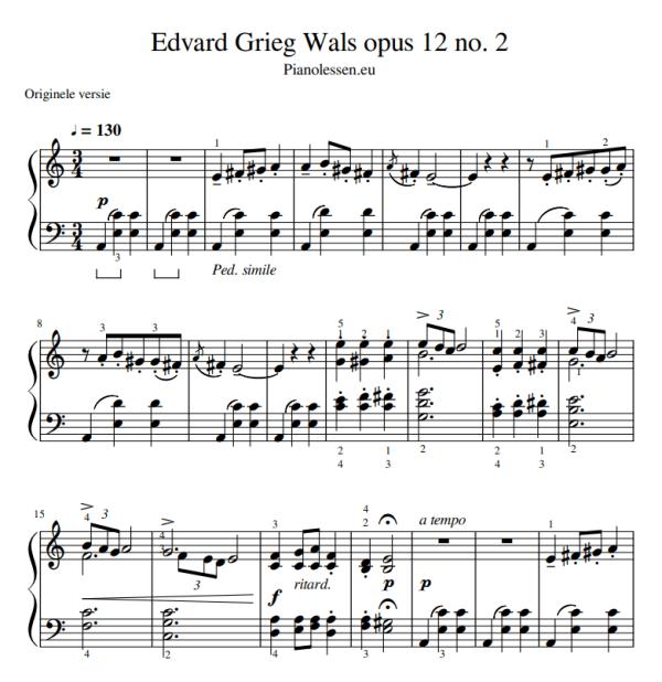 E. Grieg Wals op 12 no 2 PDF sheet