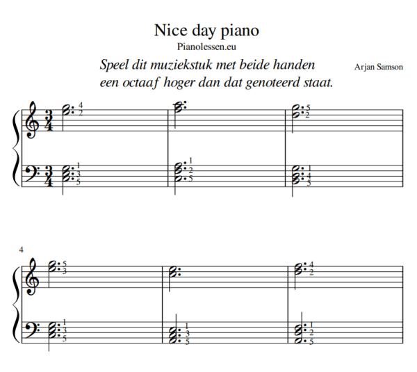 NICE DAY pianomuziek PDF