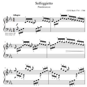 Solfeggietto bladmuziek PDF