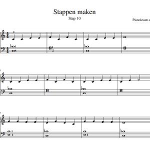 Stappen maken piano bladmuziek