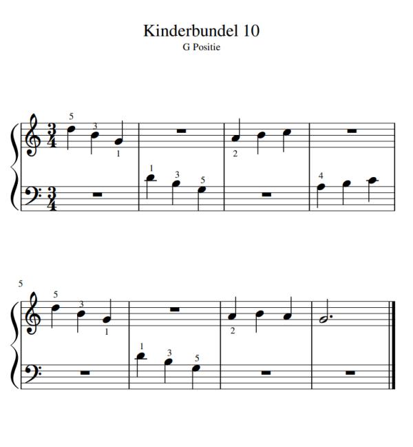 kinderen pianomuziek PDF