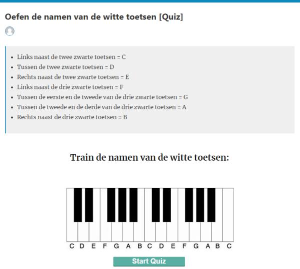 muziek quiz noten oefenen