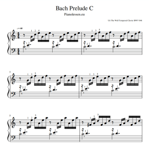 Bach Prelude C music sheet