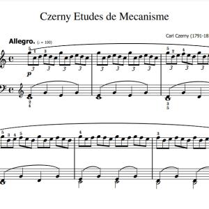 Czerny 30 etudes de Mecanisme Opus 849 Bladmuziek PDF