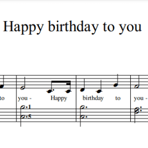 Happy birthday to you Music sheet PDF