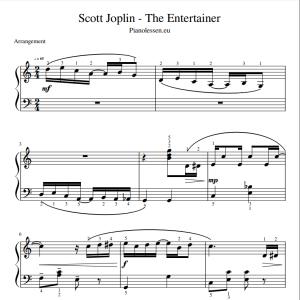 Joplin The Entertainer Bladmuziek PDF