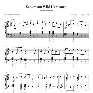 Schumann Wild Horseman music sheet PDF