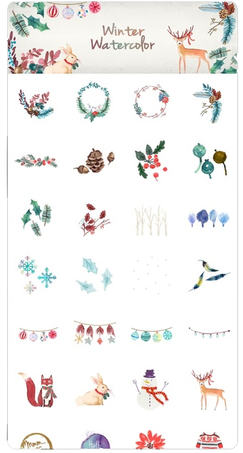 winterwatercolor