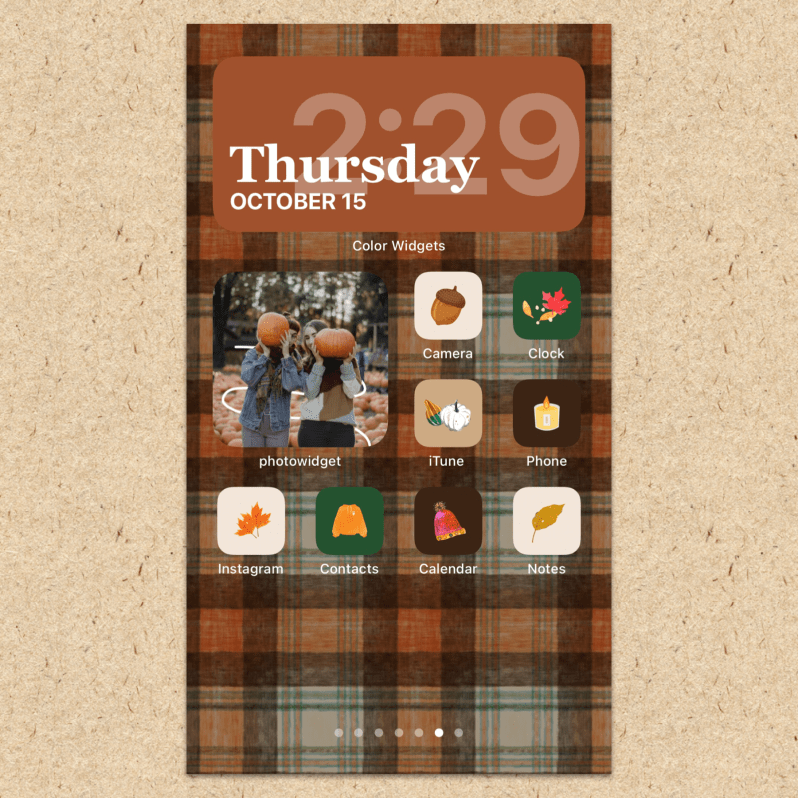 iOS 14 Fall Theme Home Screen