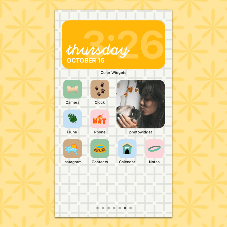 iOS 14 Pet Lover Theme Home Screen