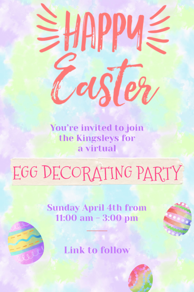 DIY Easter Party Invitation