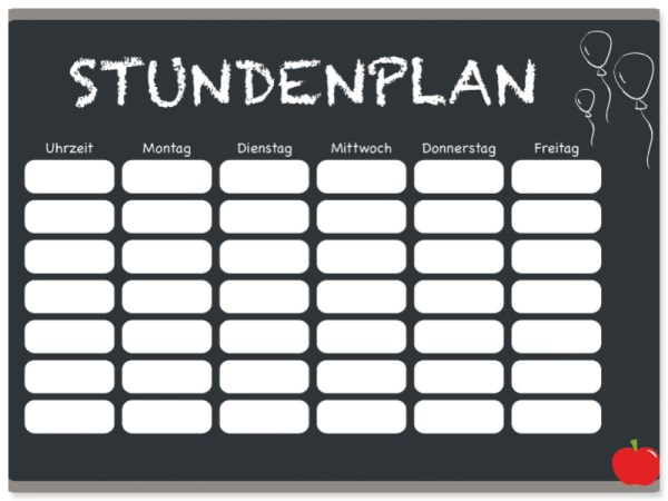 Freebie Download Stundenplan