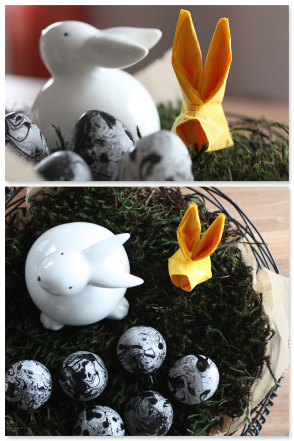 Servietten falten Ostern