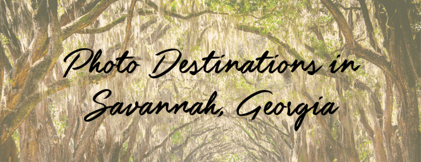 Photo Destinations in Savannah, Georgia