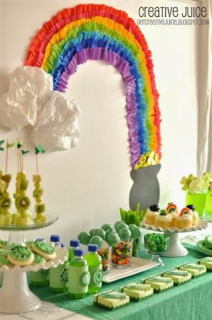 St. Patrick's Day Rainbow Decor