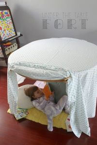 child in fort