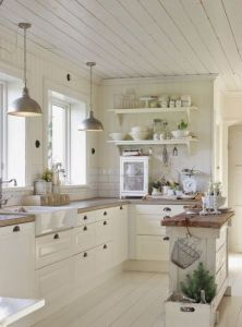 rustic white kitchen
