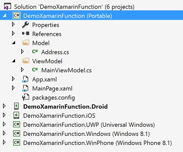 Xamarin Solution overview