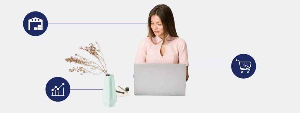 Emprendedora en el comercio electrónico