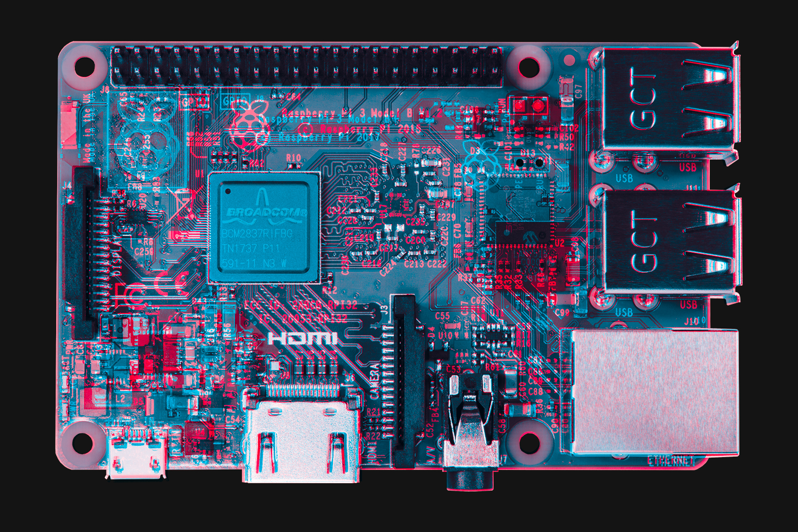hight resolution of in the images below the parts in red are those that were different on the pi 3