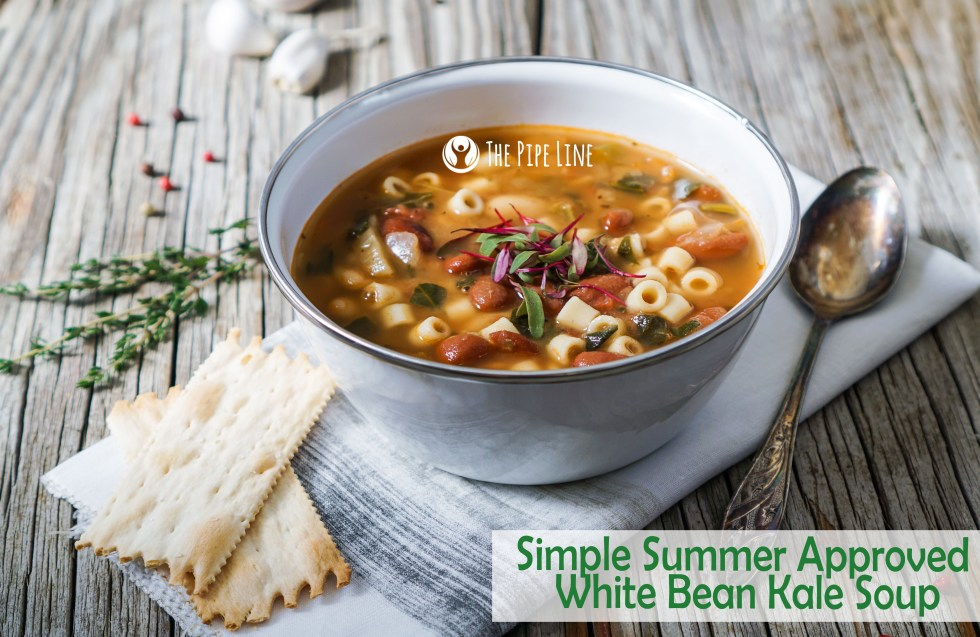 white bean kale soup