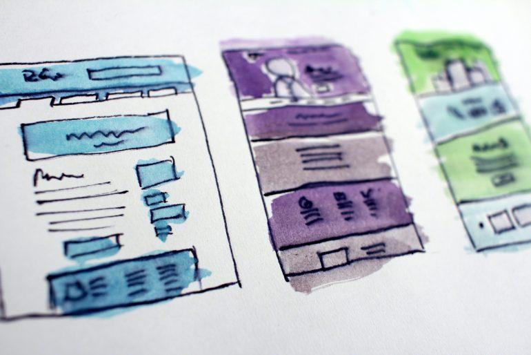 Website blog layout illustrations