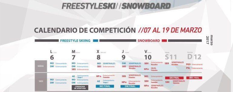 CALENDARIO Mundial Snowboard y Freestyle Ski de Sierra Nevada 2017