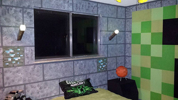 La chambre Minecraft  Chambre Bb Geek Gaming Geek