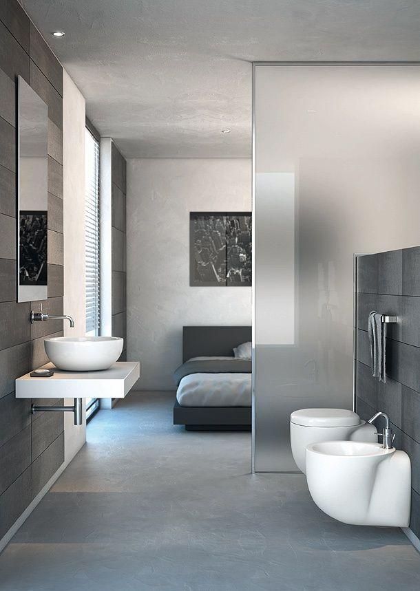 chambre et salle de bain ouverte salle de bains ouverte coin eau dans la