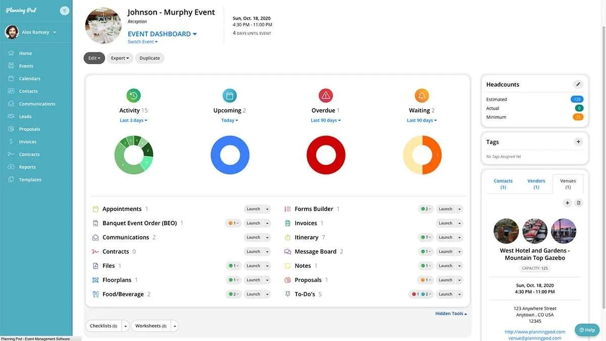 Planning Pod Event Dashboard Tools