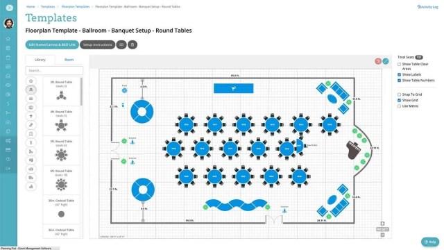 Planning Pod Event Floor Plan Software Templates