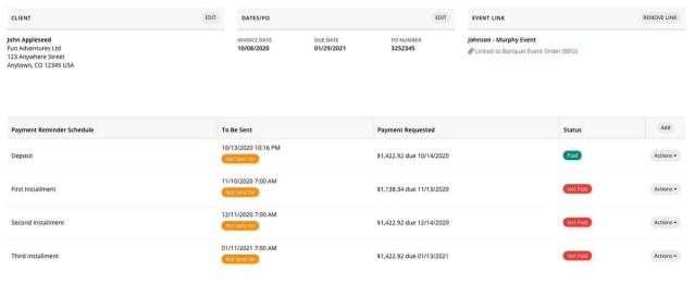 Planning Pod Payment Reminder Tool