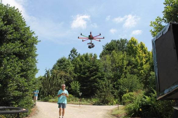 Helicam flying near Wayne