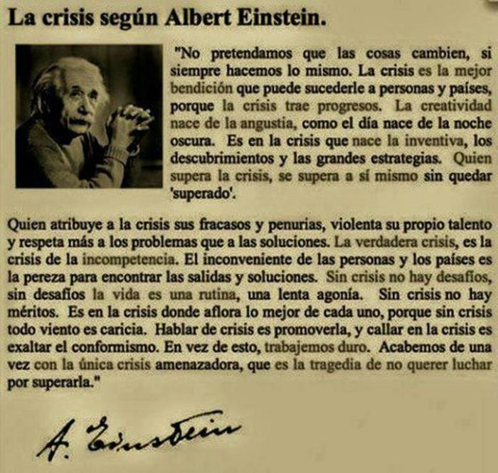 Albert Einstein sobre la crisis
