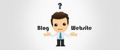 página web versus blog