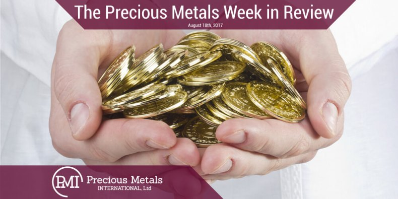 The Precious Metals Week in Review - August 18, 2017 - Precious Metals International