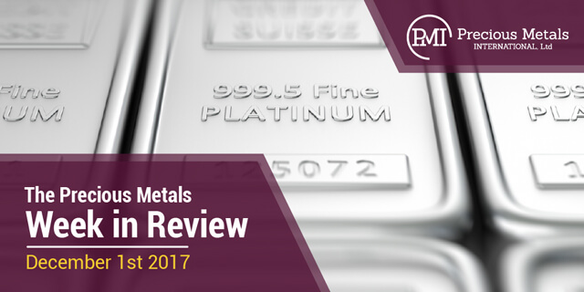 The Precious Metals Week in Review - December 1, 2017