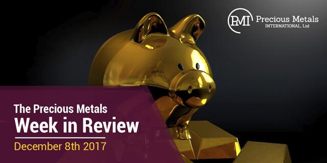 The Precious Metals Week in Review - December 8, 2017