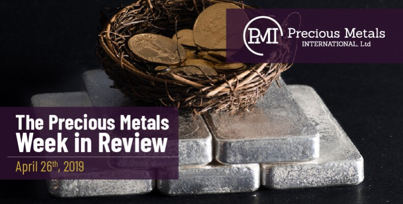The Precious Metals Week in Review - April 26th, 2019.