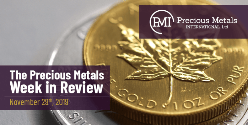 The Precious Metals Week in Review - November 29th, 2019.