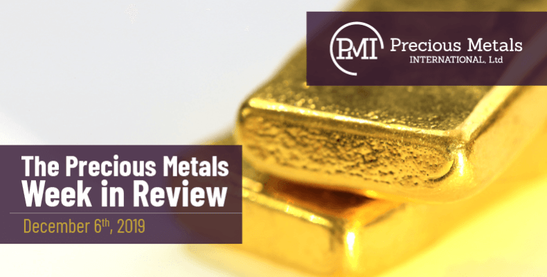 The Precious Metals Week in Review - December 6th, 2019.