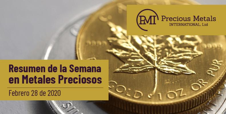 Resumen de la Semana en Metales Preciosos - Febrero 28 de 2020