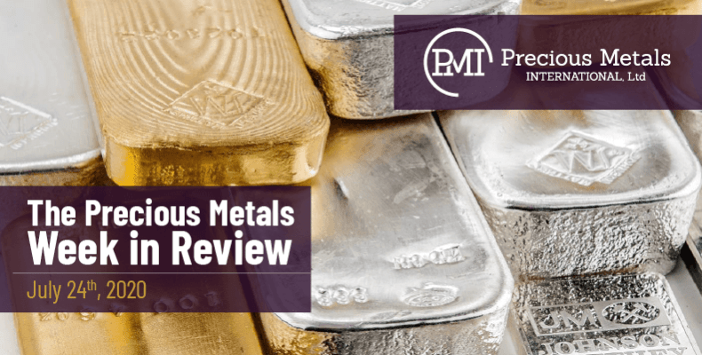 The Precious Metals Week in Review - July 24th, 2020.