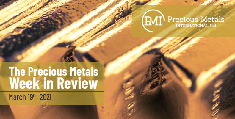 The Precious Metals Week in Review – March 19th, 2021