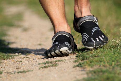 barefoot running two