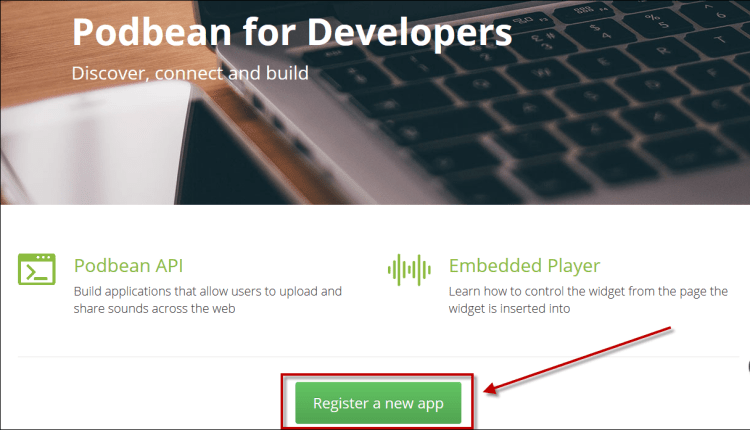 Register a new app