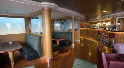 On board bar P&O Ferries